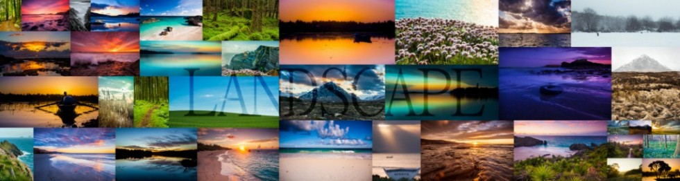 Collage of landscape photos