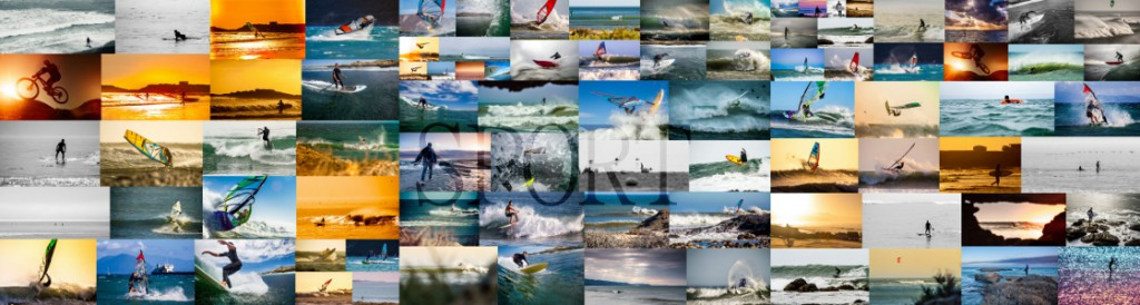 Collage of sport photos