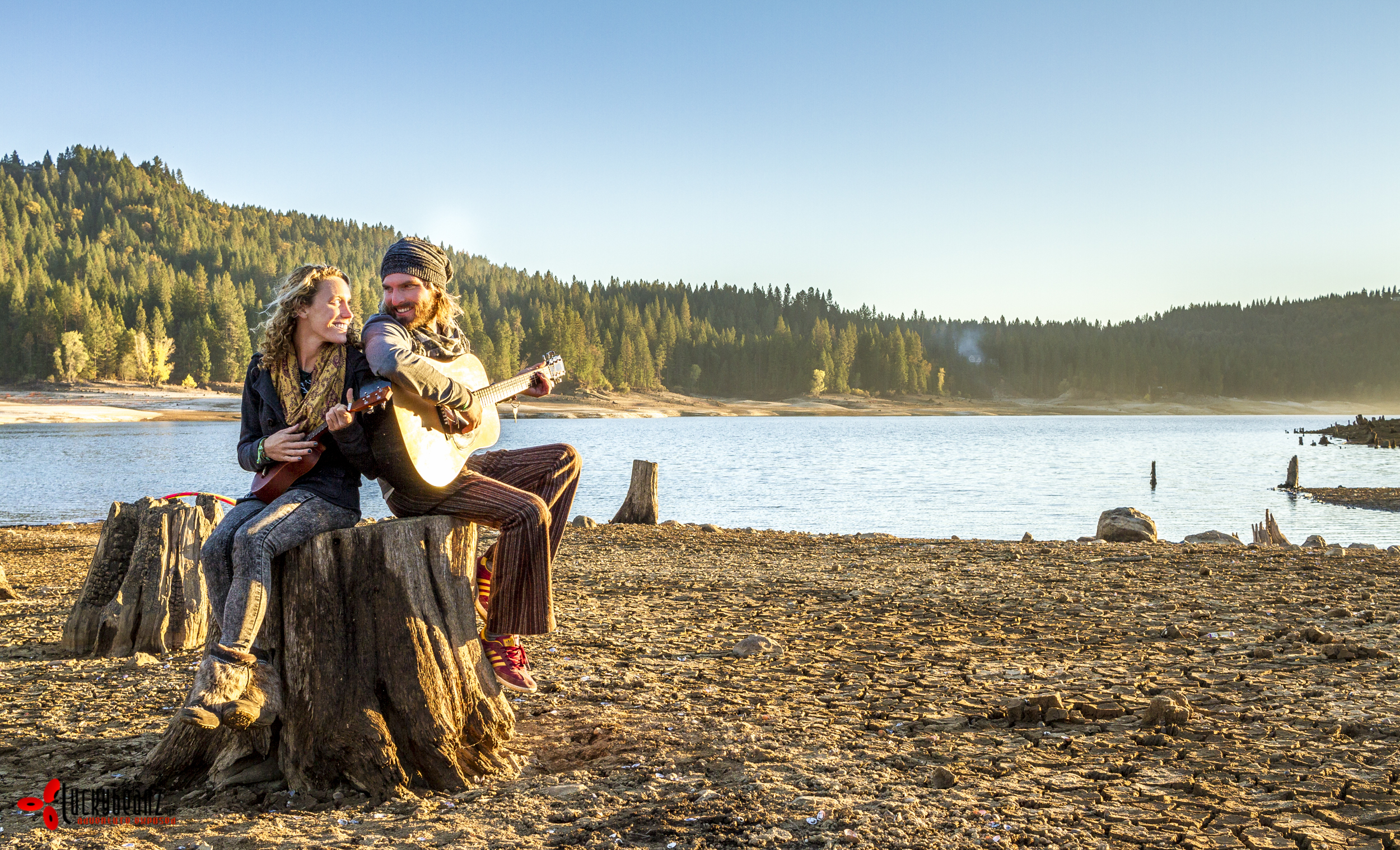 Music, sunshine, lake, pure happiness.
