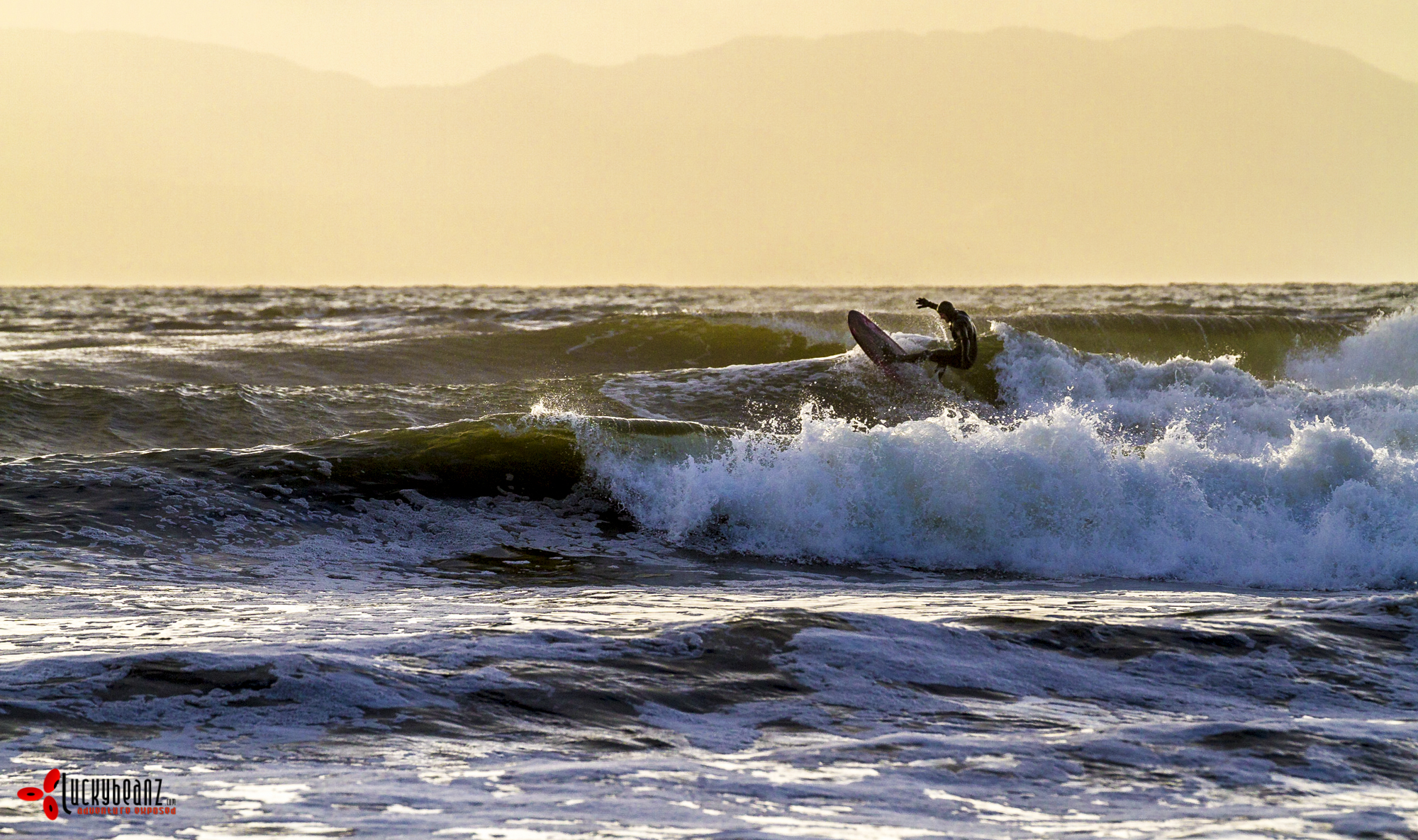Some good surfers in the water.