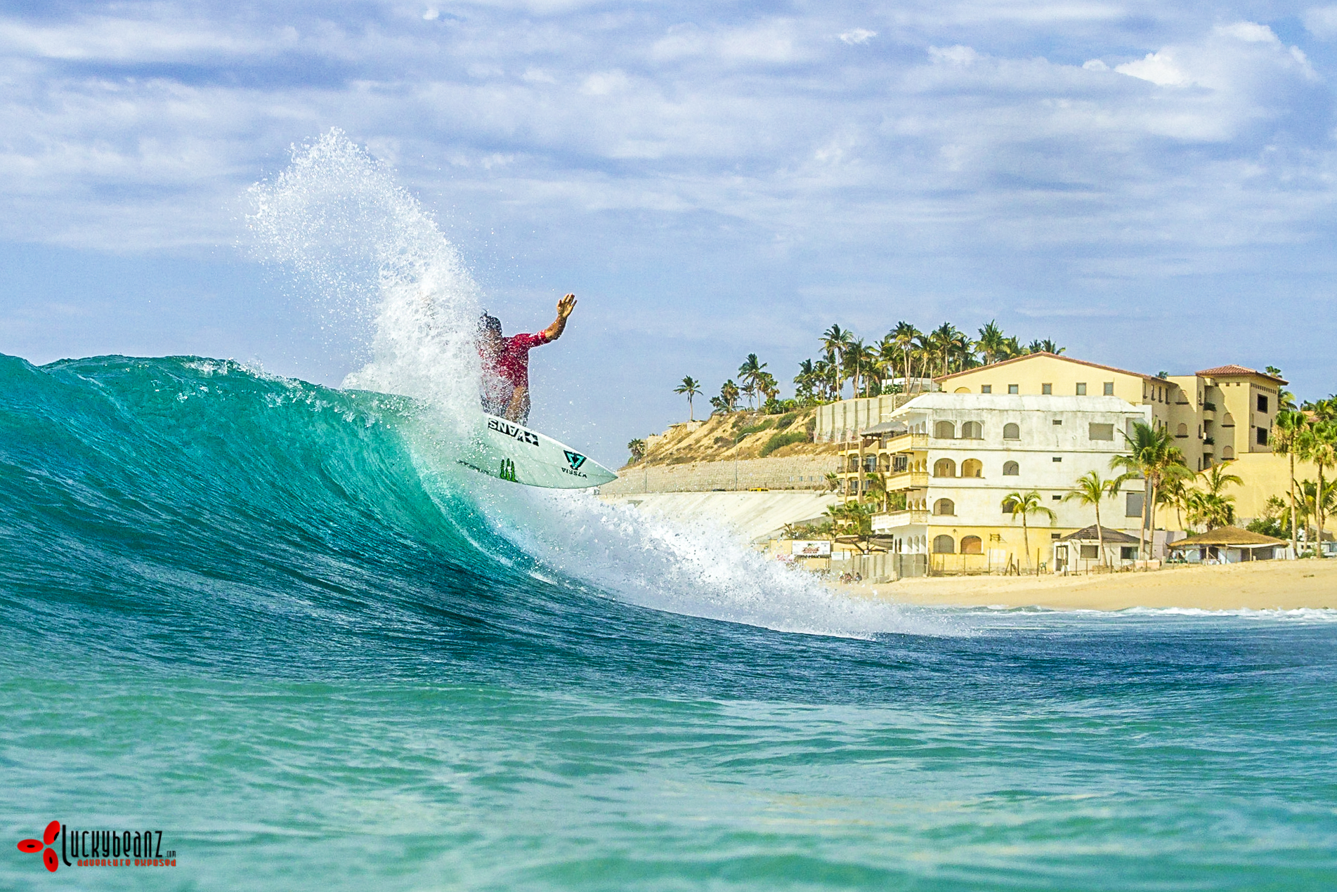 Shooting surf contests in Cabo.