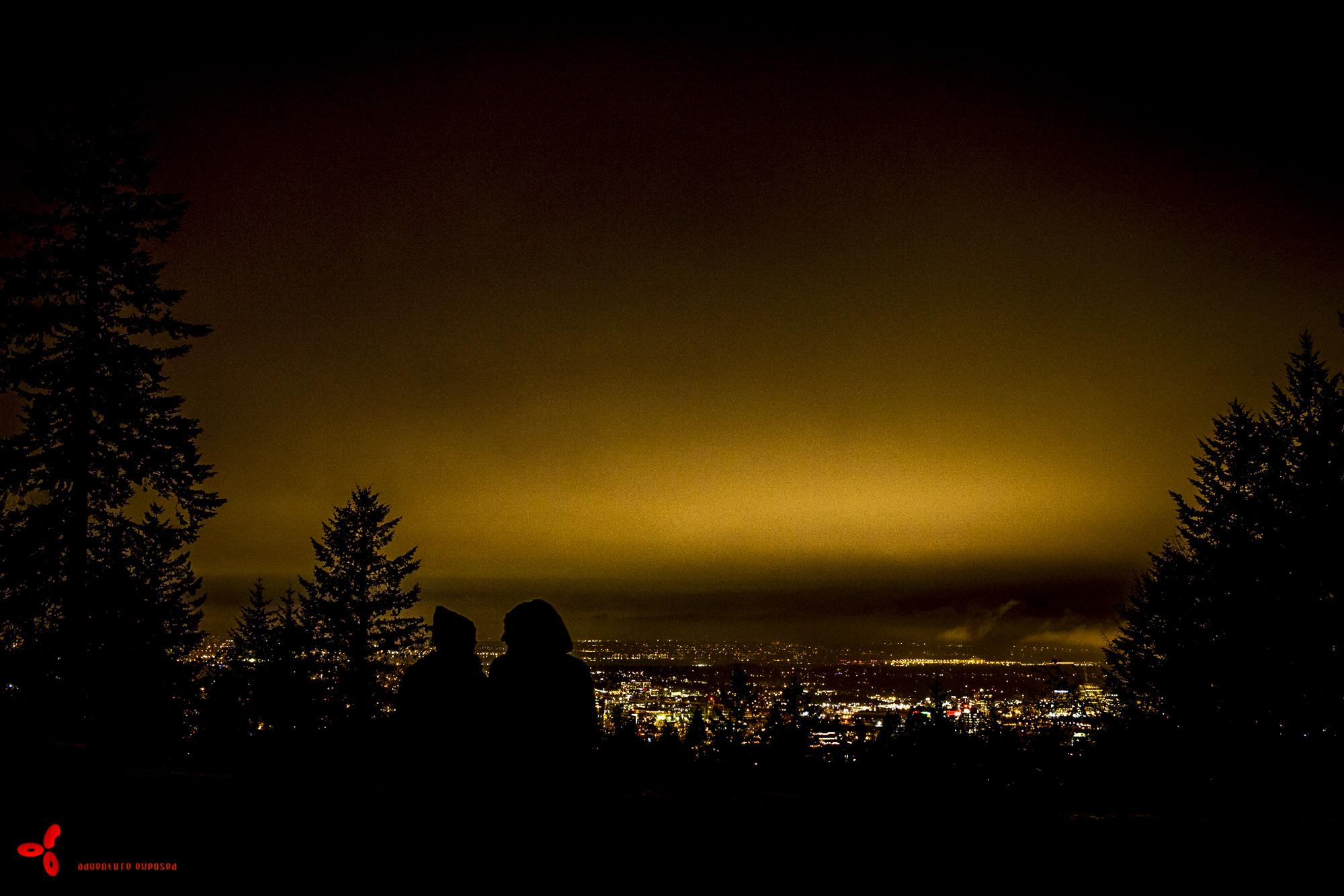 Sophie showed me the city lights in Portland.