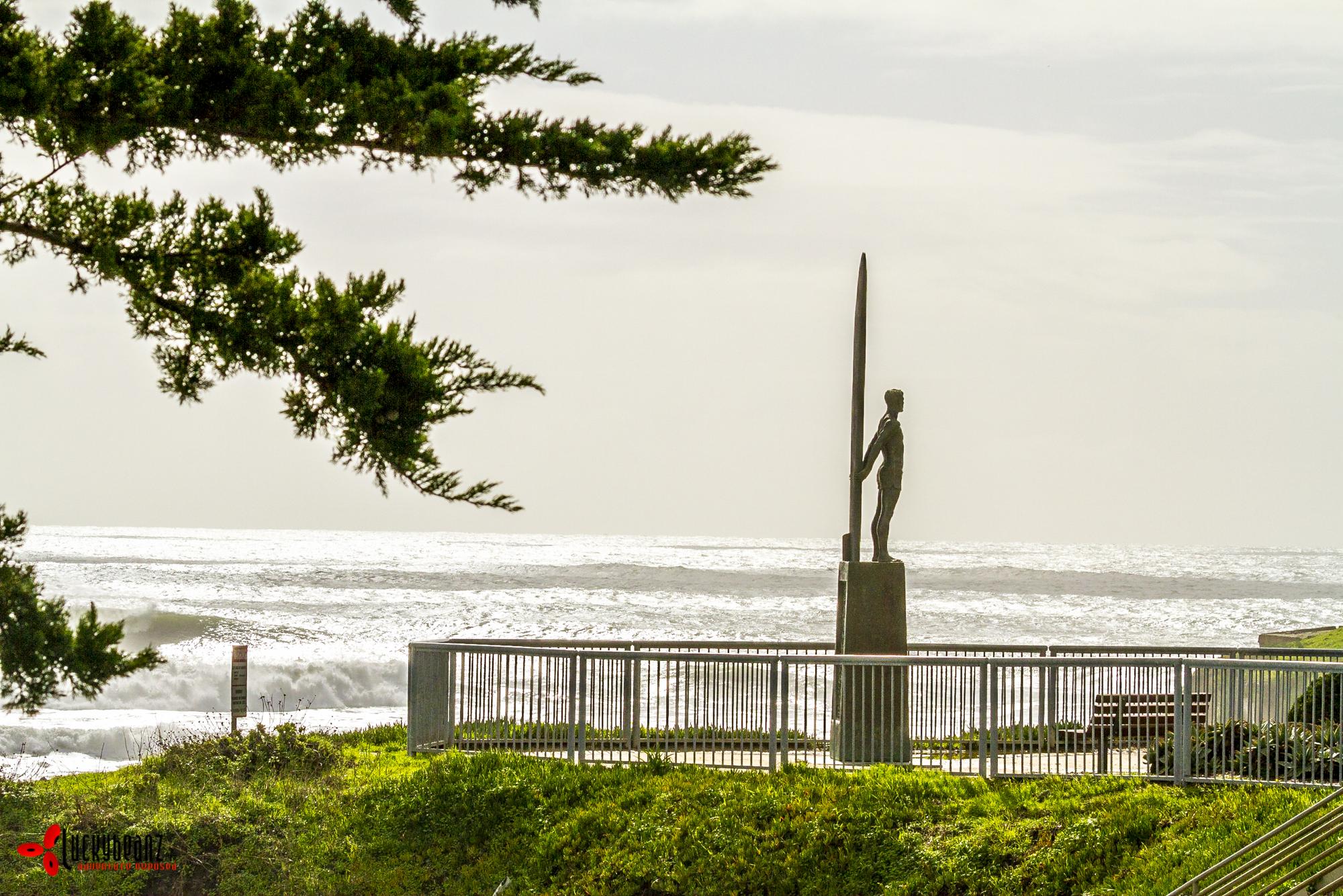 Experiencing surfing history in Santa Cruz, California.