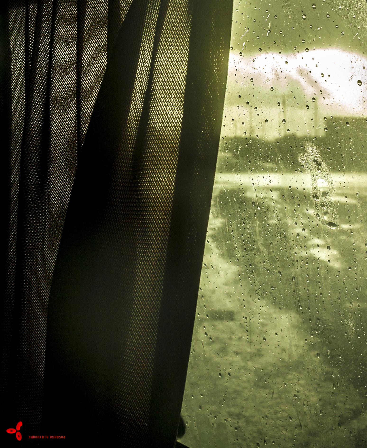 Waking up to more rain.