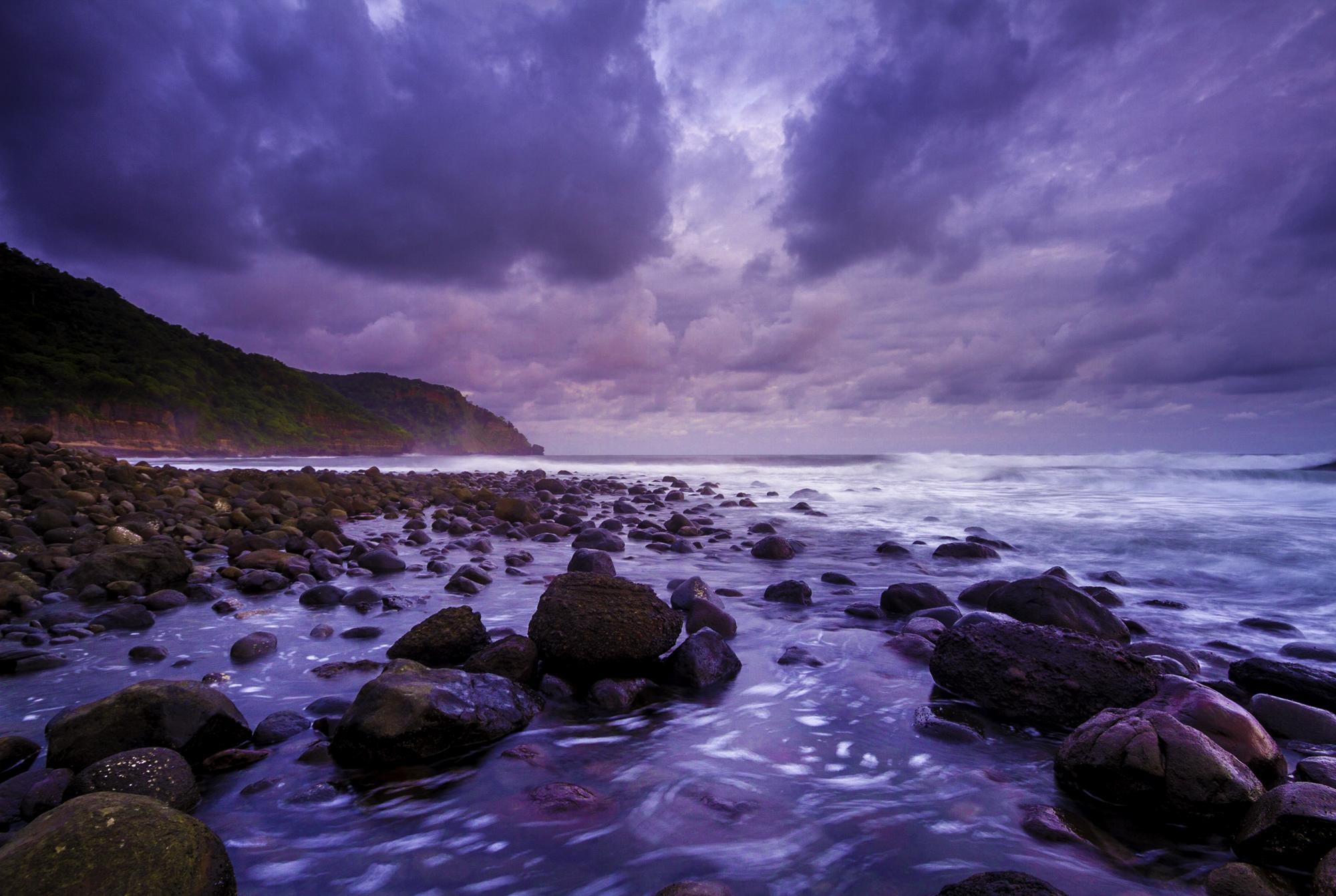 Purple sunset over K59 point.
